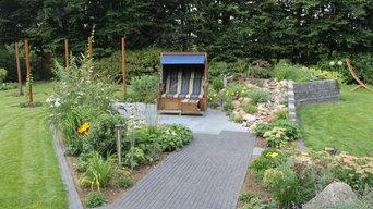 Garten und Kunst in Kombination