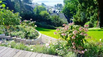 Gartenanlage am Elbhang in Blankenese