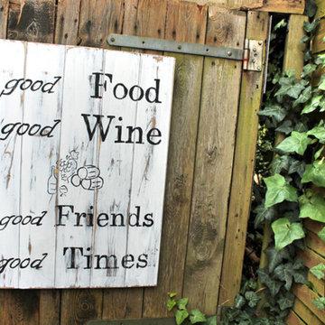 Holzschild,XXL,Vintage, good food...