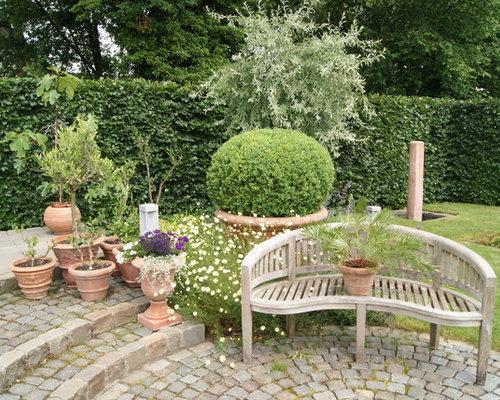 Marvelous Mediterraner Garten Im Sommer Mit Kübelpflanzen, Pflasterklinker Und  Direkter Sonneneinstrahlung In Bremen Design Inspirations