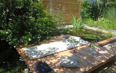 Pflegeleichter Garten mit großem Sonnendeck