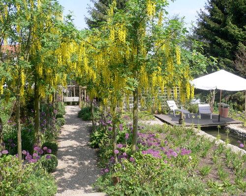 Mittelgro er landhausstil garten ideen f r die for Gartengestaltung landhausstil