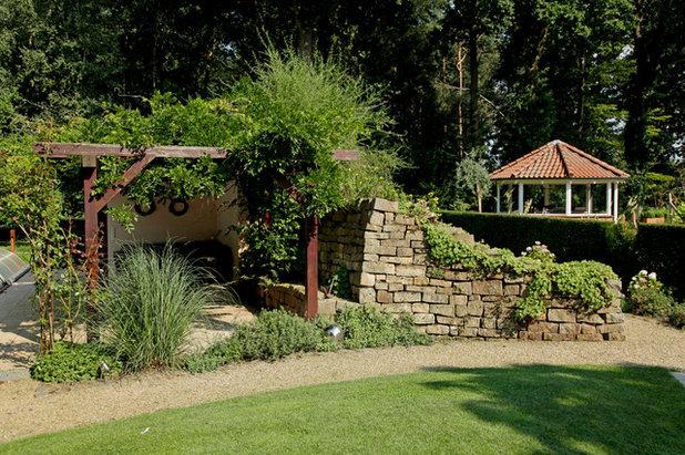 Natursteinmauern f r den garten mit und ohne m rtel for Landhausgarten deko