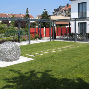 Moderne Außenanlage