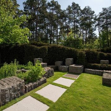 Moderner Japangarten
