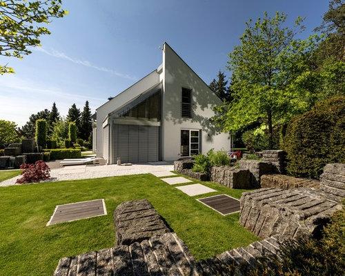 Moderner Garten mit Feuerstelle - Ideen für die Gartengestaltung