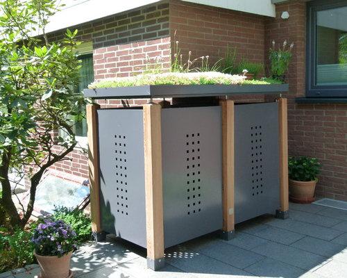 Moderner, offener Vorgarten