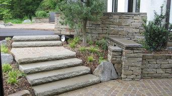 Natursteinarbeiten im Hausgarten
