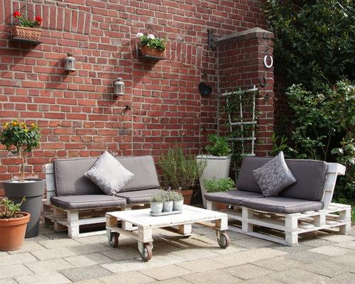 paletten-gartenmöbel, Garten Ideen