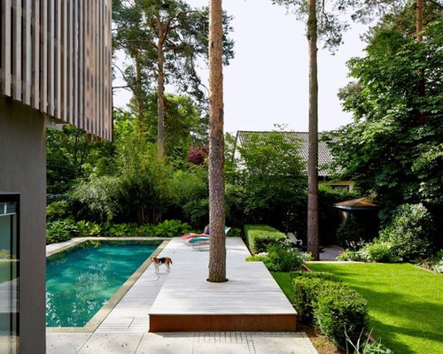 Moderner Garten Hinter Dem Haus In Nürnberg