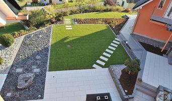 Private Gärten - Referenz von oben