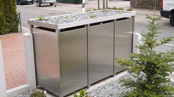Produkteindrücke - Mülltonnenhaus im Vorgarten