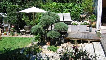Terrasse mit abführenden Steeg