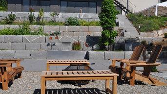 Terrassengarten auf 3 Ebenen