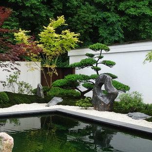 Jardin avec un bassin Francfort : Photos et idées déco de jardins