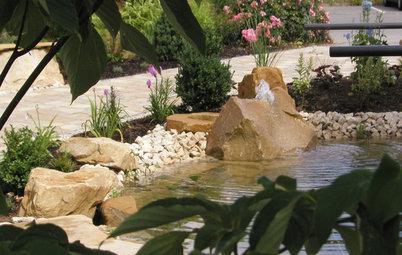 Erfrischung gefällig? Ein Wasserspiel für Garten oder Terrasse