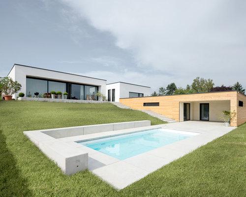 Wohnhaus B - Flachdach-Bungalow mit minimalistischem Interieur