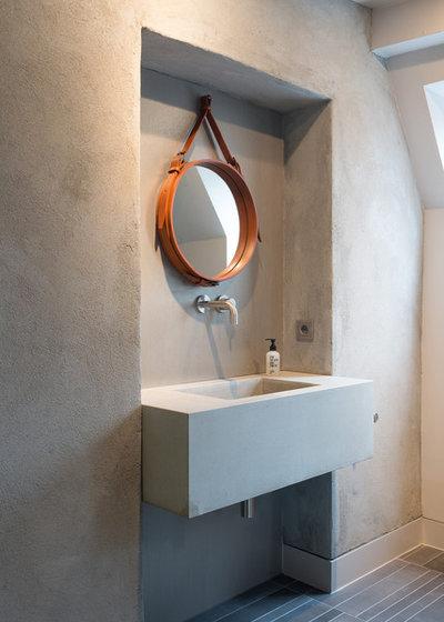 Industrielt Lille badeværelse by Beton to Be