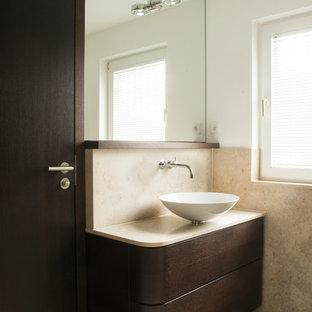 Gästetoilette U0026 Gäste WC Mit Beigefarbenen Fliesen: Ideen Für Gästebad  Und  Gäste WC Design