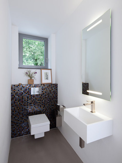 g stetoilette g ste wc mit mosaikfliesen modern ideen f r g stebad und g ste wc design houzz. Black Bedroom Furniture Sets. Home Design Ideas