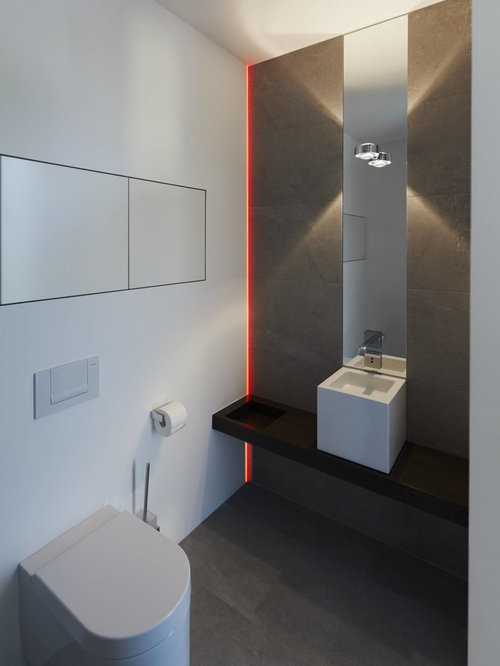 g stetoilette g ste wc mit grauen fliesen modern ideen. Black Bedroom Furniture Sets. Home Design Ideas