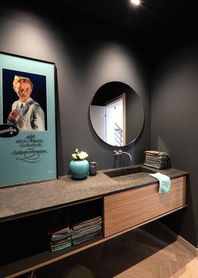 Contemporary Powder Room by BRÜNING INTERIORS