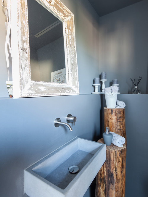 shabby chic style g stetoilette g ste wc mit wandwaschbecken ideen f r g stebad und g ste wc. Black Bedroom Furniture Sets. Home Design Ideas