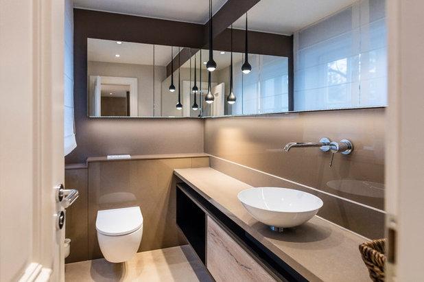 Modern Gästetoilette by RESCH Innenausbau