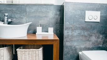 Modernes Gäste Bad