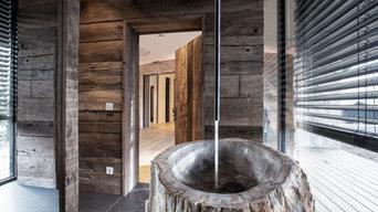Neubau einer Villa am Hang, Taunus