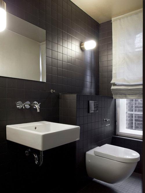Schwarze Fliesen Im Bad badezimmer mit schwarzen fliesen moderne bder schwarze fliesen