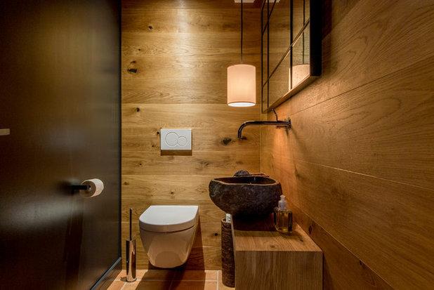 Rustikal Gästetoilette by Ohlde interior design