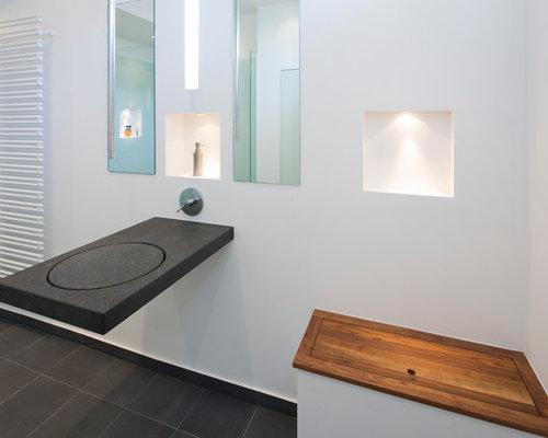 moderne gästetoilette & gäste-wc: ideen für gästebad- und gäste-wc, Attraktive mobel