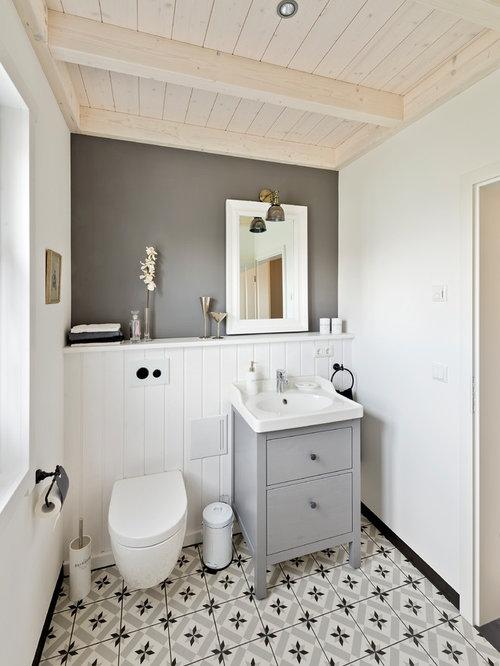 g stetoilette g ste wc mit aufsatzwaschbecken ideen f r g stebad und g ste wc design. Black Bedroom Furniture Sets. Home Design Ideas