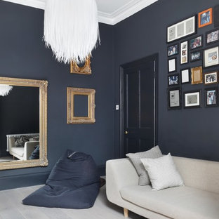 Inspiration for a contemporary family and games room in London.