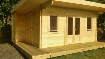 Bespoke Log Cabin - With Canopy & Decking - Pent Roof