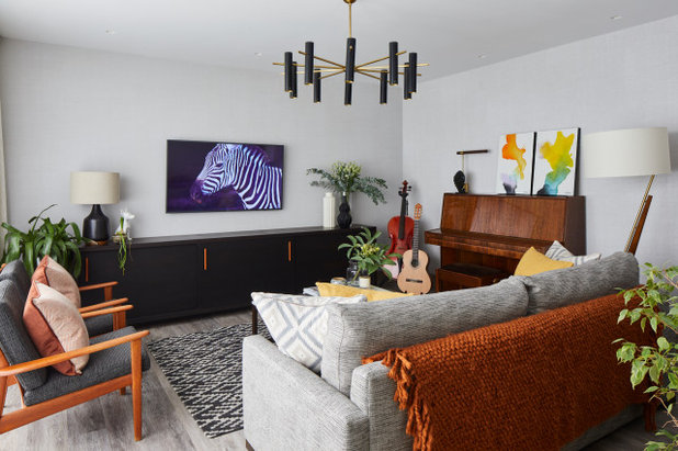 Contemporary Family & Games Room by Bhavin Taylor Design