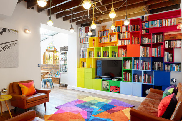 Eclectic Family & Games Room by Avocado Sweets Design Studio