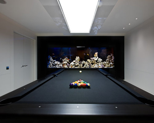Billiard room home design ideas pictures remodel and decor for Koi pond pool table