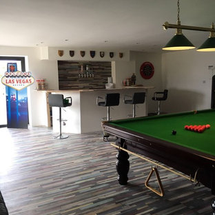 County Down Games Room | Colourful Laminate Flooring