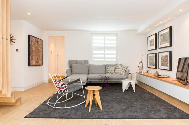 Nórdico Sala de estar by Martyn Clarke Architecture