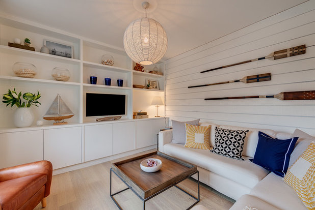 Coastal Family & Games Room by Woodford Architecture and Interiors