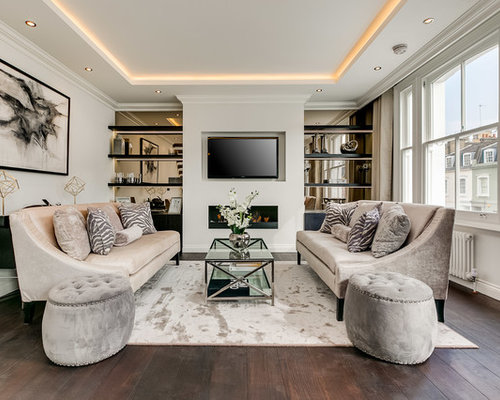 Design Ideas For A Medium Sized Traditional Open Plan Family And Games Room In London With