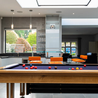 Contemporary games room in London.