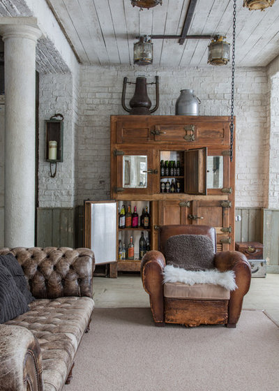 French Country Family & Games Room by The Vintage Fridge Company