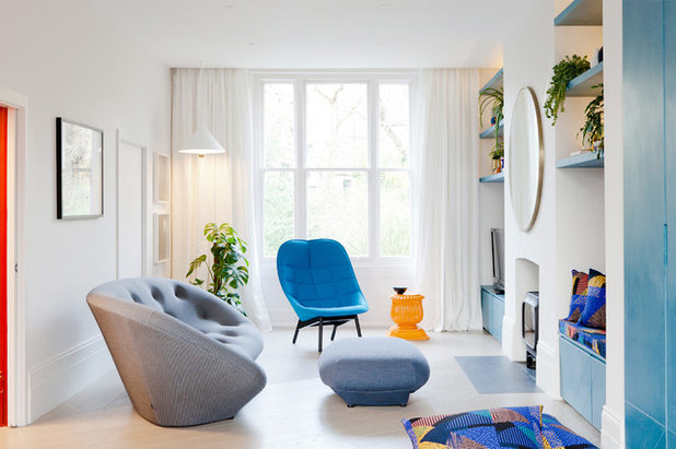 Contemporain Salle de Séjour by 2LG Studio