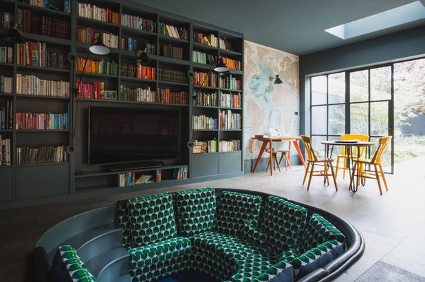 Contemporary Family & Games Room by Interior Photography by Boz