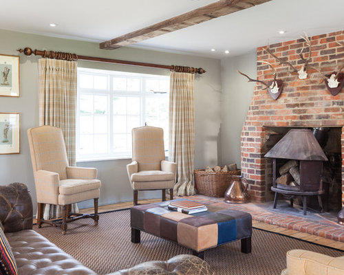 1 550 Country Style Family Room Design Photos