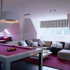 Contemporary Family Room by TLA Studio
