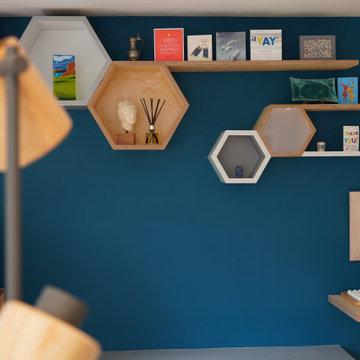 hexagonal book case